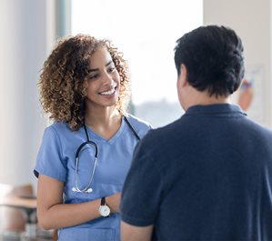 Provider speaking with patient